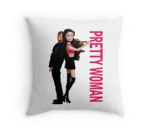A Plastic World - Pretty Woman Throw Pillow