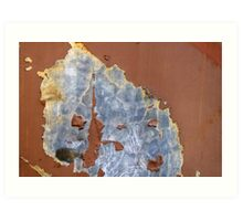 Peeling Paint 18 Art Print