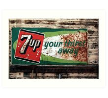 7-Up Your Thirst Away Art Print