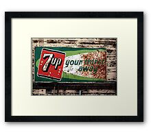 7-Up Your Thirst Away Framed Print