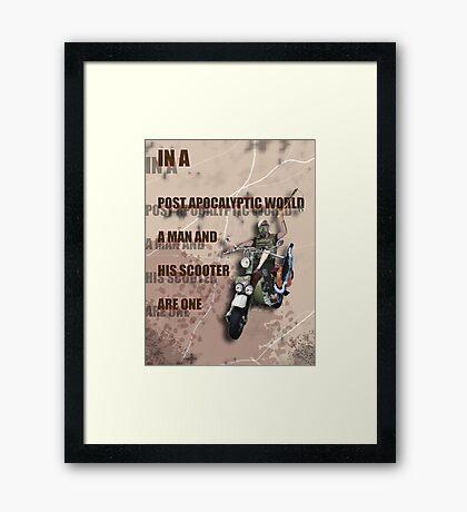 Scooter Nightrider Poster Framed Print