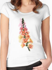 beautiful illustration of Hand Painted flower Wild  Women's Fitted Scoop T-Shirt