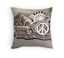 Bisbee Peace Wall Throw Pillow