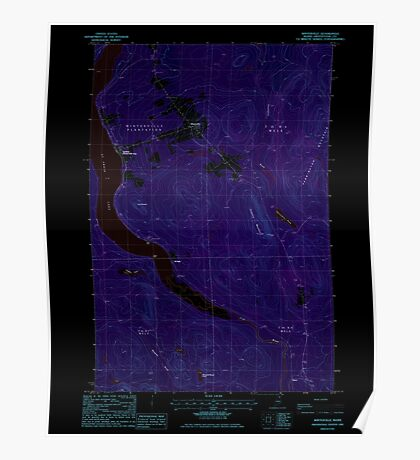Maine USGS Historical Map Winterville 103118 1985 24000 Inversion Poster