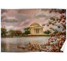 Dawn Over The Jefferson Memorial Poster
