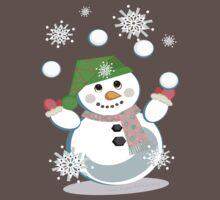 Juggling Snowman by Jamie Wogan Edwards