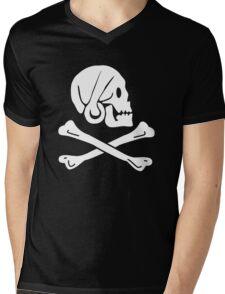 Henry Every Pirate Flag Mens V-Neck T-Shirt