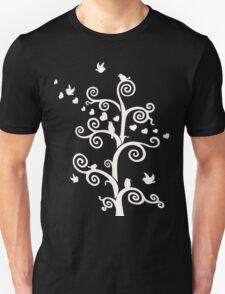 Love Birds - White Image Unisex T-Shirt