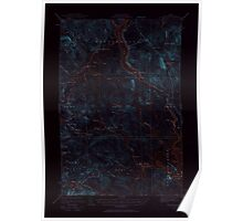 Maine USGS Historical Map Winterville 306852 1928 62500 Inversion Poster