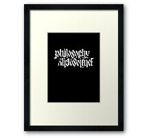 PHILOSOPHY, ART & SCIENCE Framed Print