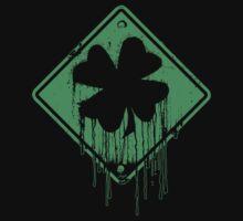 Dripping Irish Shamrock St. Patrick's Day One Piece - Short Sleeve