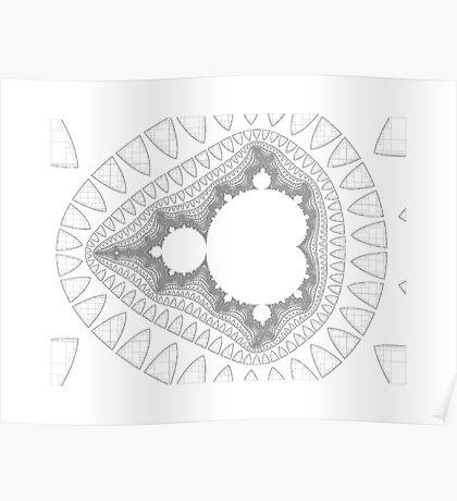 Mandelbrot series IV Poster