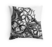 The Riverflow, Ink Drawing Throw Pillow