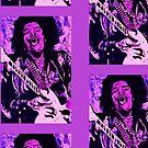 Jimi Hendrix 1 - Design 3 by Kevin J Cooper
