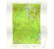 Maine USGS Historical Map Winterville 461031 1928 62500 Poster