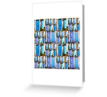 Blue Front Doors Greeting Card