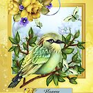 Mother's Day, With Bird Butterflies And Roses by Moonlake