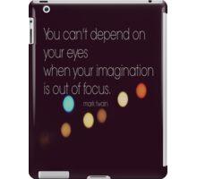 Eyes Mark Twain iPad Case/Skin
