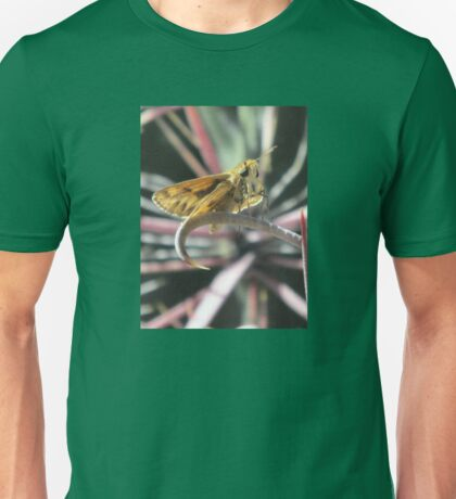 Skipper Butterfly on Fishhook Barrel Cactus Spine Unisex T-Shirt