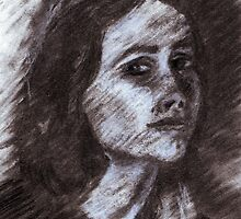 Kirsten Charcoal Portrait by DreddArt