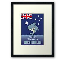 welcome to australia Framed Print