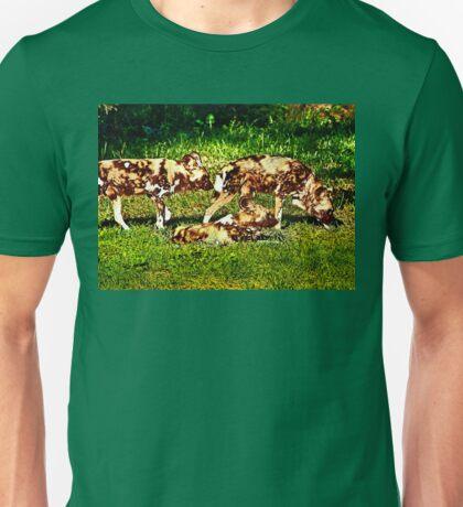 African Wild Dog Family Unisex T-Shirt