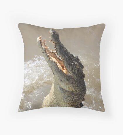 Feeding the Wildlife Throw Pillow