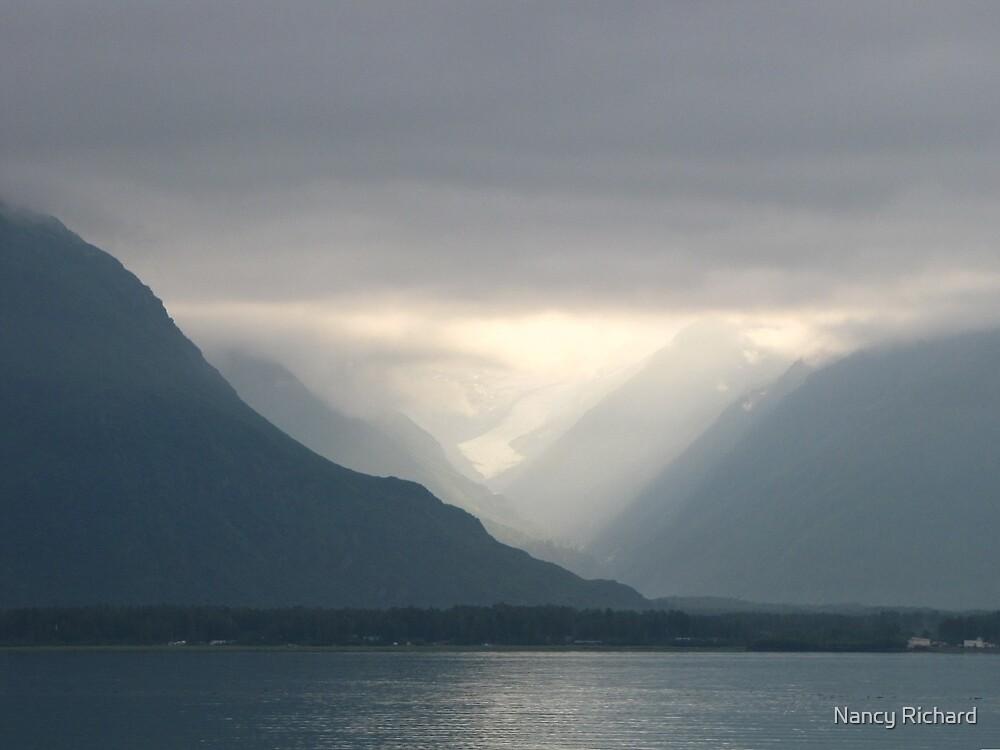 Mist in Prince William Sound--Alaska by Nancy Richard