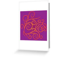 Colorful flourish curves 4 Greeting Card