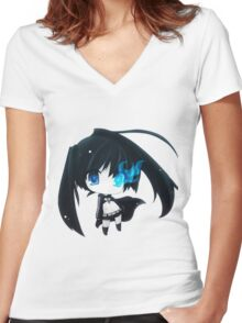 Black Rock Shooter ♥ Women's Fitted V-Neck T-Shirt