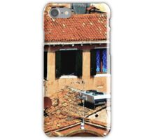 VENETIAN TILE AND BLUE CURTAINS iPhone Case/Skin