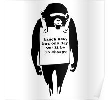 Banksy Print Monkey Laugh Now Chimp  Poster