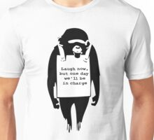 Banksy Print Monkey Laugh Now Chimp  Unisex T-Shirt