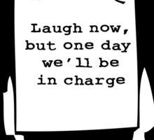 Banksy Print Monkey Laugh Now Chimp  Sticker