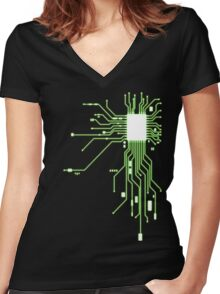 Circuitry Women's Fitted V-Neck T-Shirt