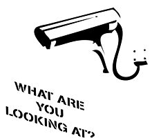 Banksy Inspired CCTV Print What are you looking at by willsharpe1