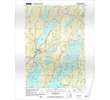 Maine USGS Historical Map Winthrop 103119 2000 24000 Poster