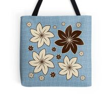 Floral design on blue Tote Bag