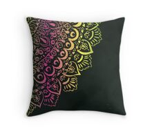 Lace rainbow quarter mandala  Throw Pillow