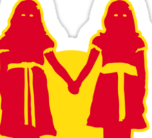 REDRUM gives you the creeps! (red) Sticker