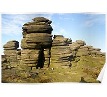 Rock Stack in the Peak District Poster