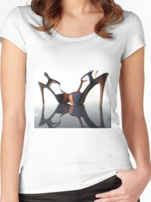 high heels universe (3) Women's Fitted Scoop T-Shirt