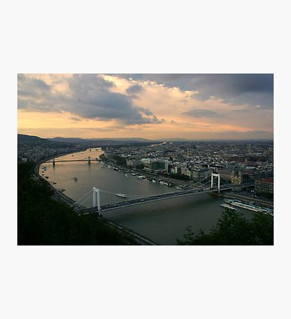 Early Evening over Budapest Photographic Print