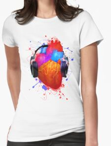 No Music - No Life Womens Fitted T-Shirt