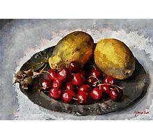 Papayas and Cherries Photographic Print