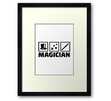 Magician equipment Framed Print