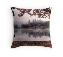 A cool & frosty fall  morning Throw Pillow