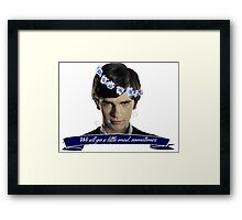 We All Go a Little Mad Framed Print