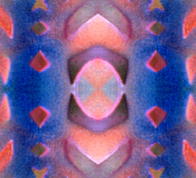 Peach Flavored Solarized Ribbons Sticker