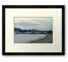 Road to Village Framed Print
